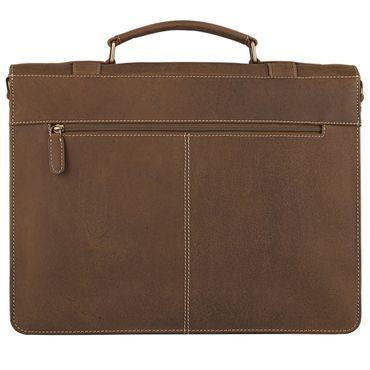 STILORD Elegante Aktentasche Lehrertasche mit Stil, Schulter Hand oder Umhängetasche, Vintage Businesstasche, Leder braun – Bild 4