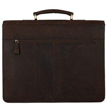 STILORD Klassische Ledertasche Aktentasche Lehrertasche Umhängetasche für Laptops bis 15.6 Zoll echtes Rinds Leder, Vintage Design dunkelbraun – Bild 4