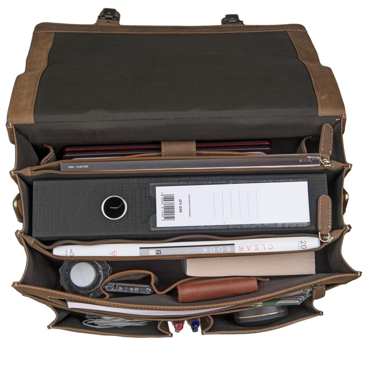 STILORD Aktentasche extra groß und robust Bürotasche Lehrertasche Businesstasche Umhängetasche echtes Rinds Leder Braun - Bild 4