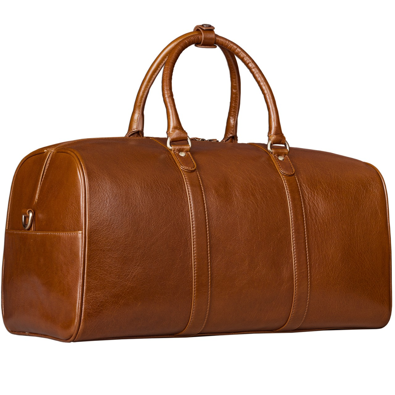 STILORD Große Vintage Reisetasche Business Urlaub Handgepäck für Herren und Damen, Weekender aus Leder cognac braun - Bild 5