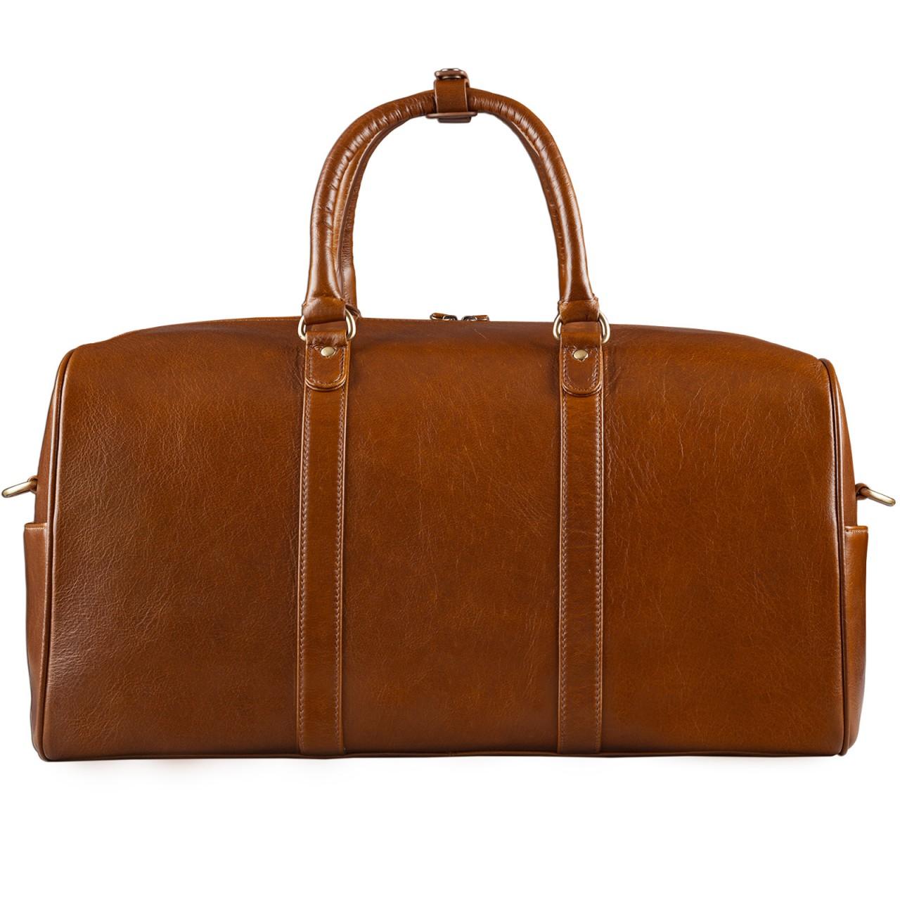 STILORD Große Vintage Reisetasche Business Urlaub Handgepäck für Herren und Damen, Weekender aus Leder cognac braun - Bild 4