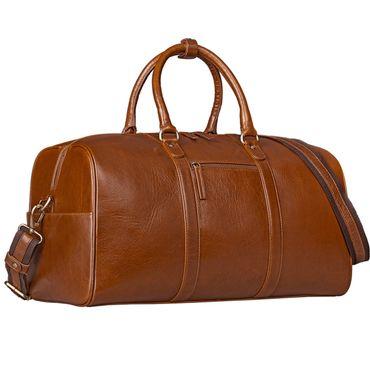 STILORD Große Vintage Reisetasche Business Urlaub Handgepäck für Herren und Damen, Weekender aus Leder cognac braun – Bild 2