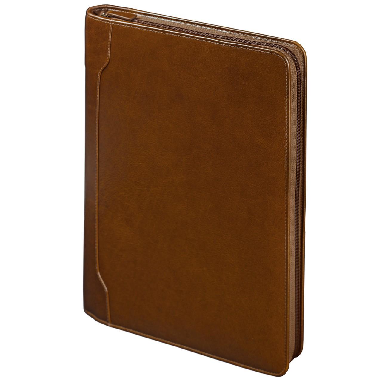 """STILORD """"Vincent"""" Dokumentenmappe A4 Organizer mit Ringbuch Konferenzmappe Schreibmappe groß elegant Business echtes Leder, braun - Bild 1"""