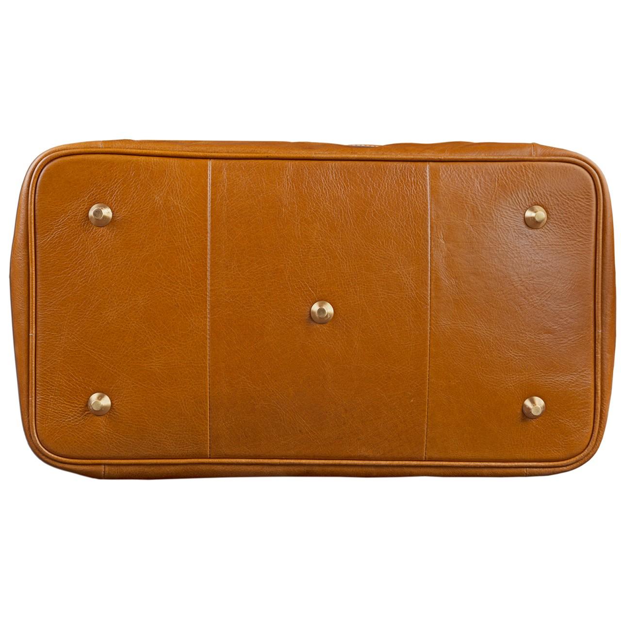 STILORD Vintage Reisetasche aus edlem Rindsleder Urlaub Handgepäck Weekend Bag Sporttasche, echtes Leder, cognac braun - Bild 5