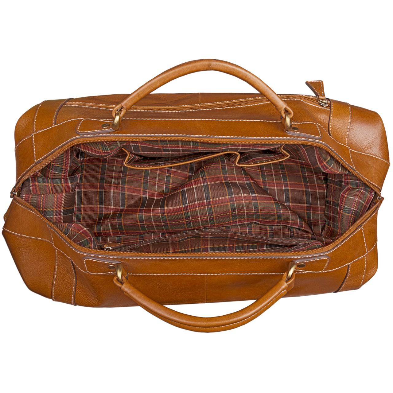 STILORD Vintage Reisetasche aus edlem Rindsleder Urlaub Handgepäck Weekend Bag Sporttasche, echtes Leder, cognac braun - Bild 6