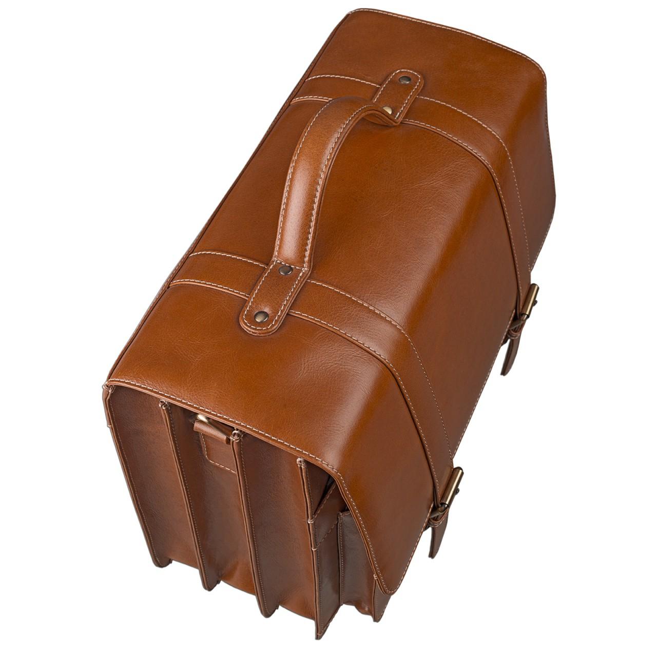 44257e2c7694e Vintage Aktentasche zum Umhängen 15.6 Zoll Braun