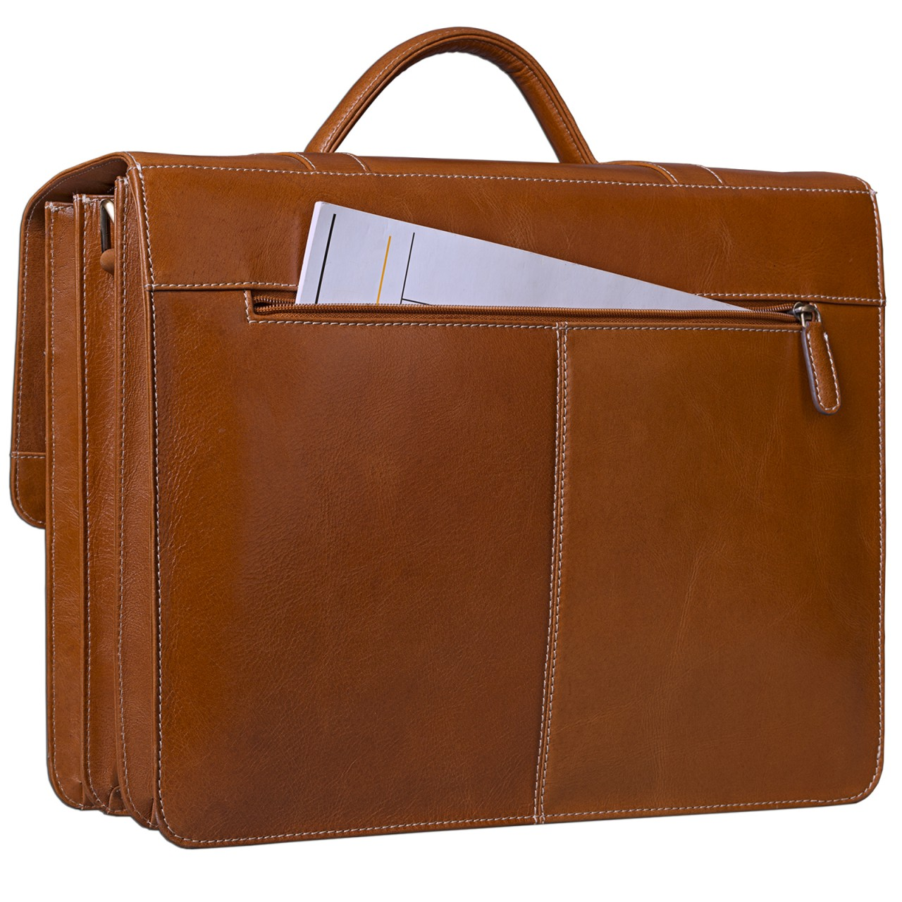 STILORD Vintage Aktentasche zum Umhängen 15.6 Zoll - Business Umhängetasche ideal für Lehrer und Büro, Rinds Leder braun - Bild 5