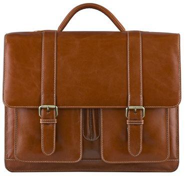 STILORD Vintage Aktentasche zum Umhängen 15.6 Zoll - Business Umhängetasche ideal für Lehrer und Büro, Rinds Leder braun – Bild 2