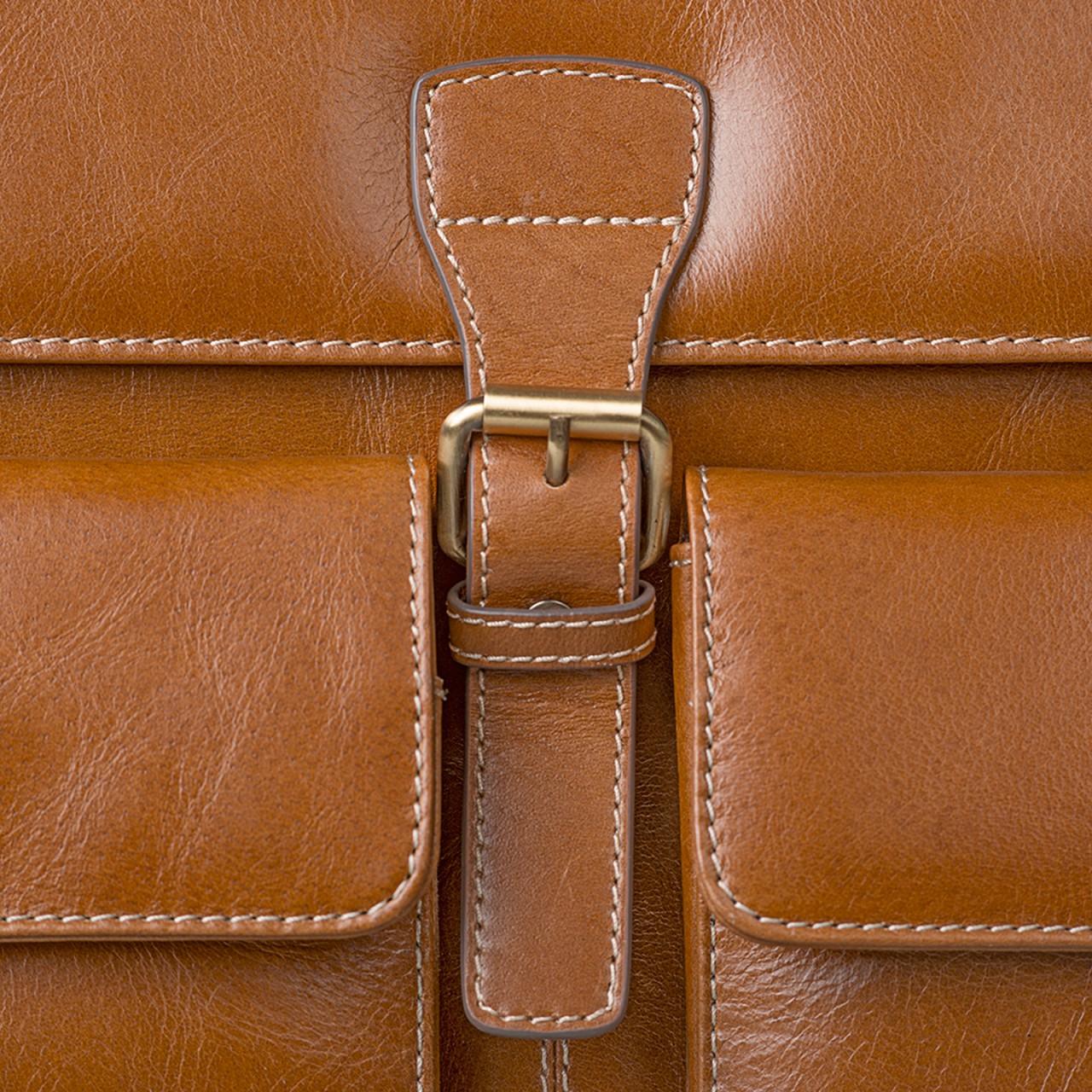 STILORD Businesstasche / Lehrertasche abnehmbarer Schultergurt Umhängetasche Aktentasche 15.6 Zoll Laptop Rinds Leder, cognac braun - Bild 7