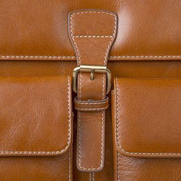 STILORD Businesstasche / Lehrertasche abnehmbarer Schultergurt Umhängetasche Aktentasche 15.6 Zoll Laptop Rinds Leder, cognac braun – Bild 7