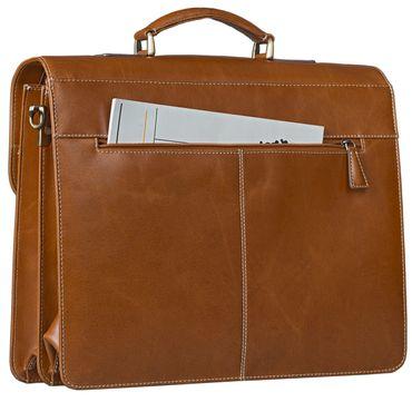 STILORD Businesstasche / Lehrertasche abnehmbarer Schultergurt Umhängetasche Aktentasche 15.6 Zoll Laptop Rinds Leder, cognac braun – Bild 4