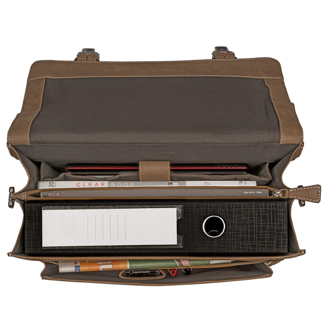 STILORD Elegante Aktentasche im klassischen Design Bürotasche Lehrertasche Umhängetasche Business Handtasche Leder braun - Bild 7