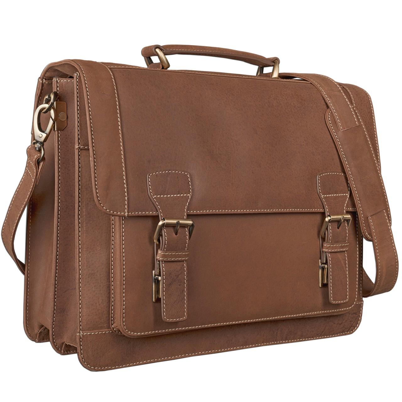STILORD Elegante Aktentasche im klassischen Design Bürotasche Lehrertasche Umhängetasche Business Handtasche Leder braun - Bild 1