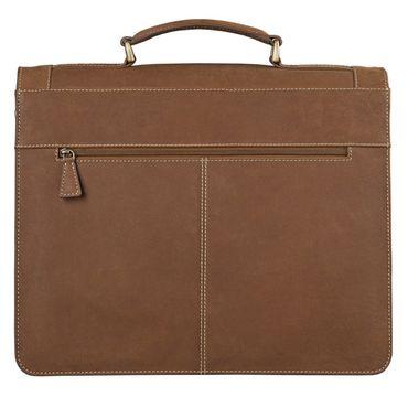 STILORD Elegante Aktentasche im klassischen Design Bürotasche Lehrertasche Umhängetasche Business Handtasche Leder braun – Bild 4