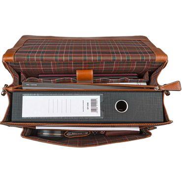STILORD Vintage Aktentasche Bürotasche Business Office Lehrertasche 13 14 15 Zoll Laptoptasche Umhängetasche Handtasche Leder cognac braun – Bild 7