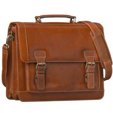 STILORD Vintage Aktentasche Bürotasche Business Office Lehrertasche 13 14 15 Zoll Laptoptasche Umhängetasche Handtasche Leder cognac braun