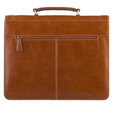 STILORD Vintage Aktentasche Bürotasche Business Office Lehrertasche 13 14 15 Zoll Laptoptasche Umhängetasche Handtasche Leder cognac braun – Bild 3
