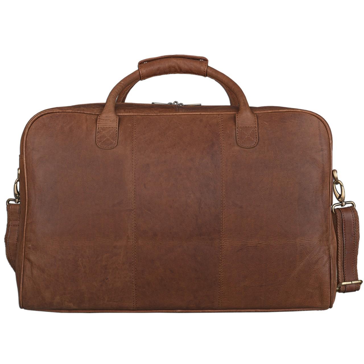 STILORD Reisetasche elegant und groß XXL Weekender Bag Sporttasche Freizeittasche Ledertasche echtes Büffel-Leder cognac braun - Bild 7