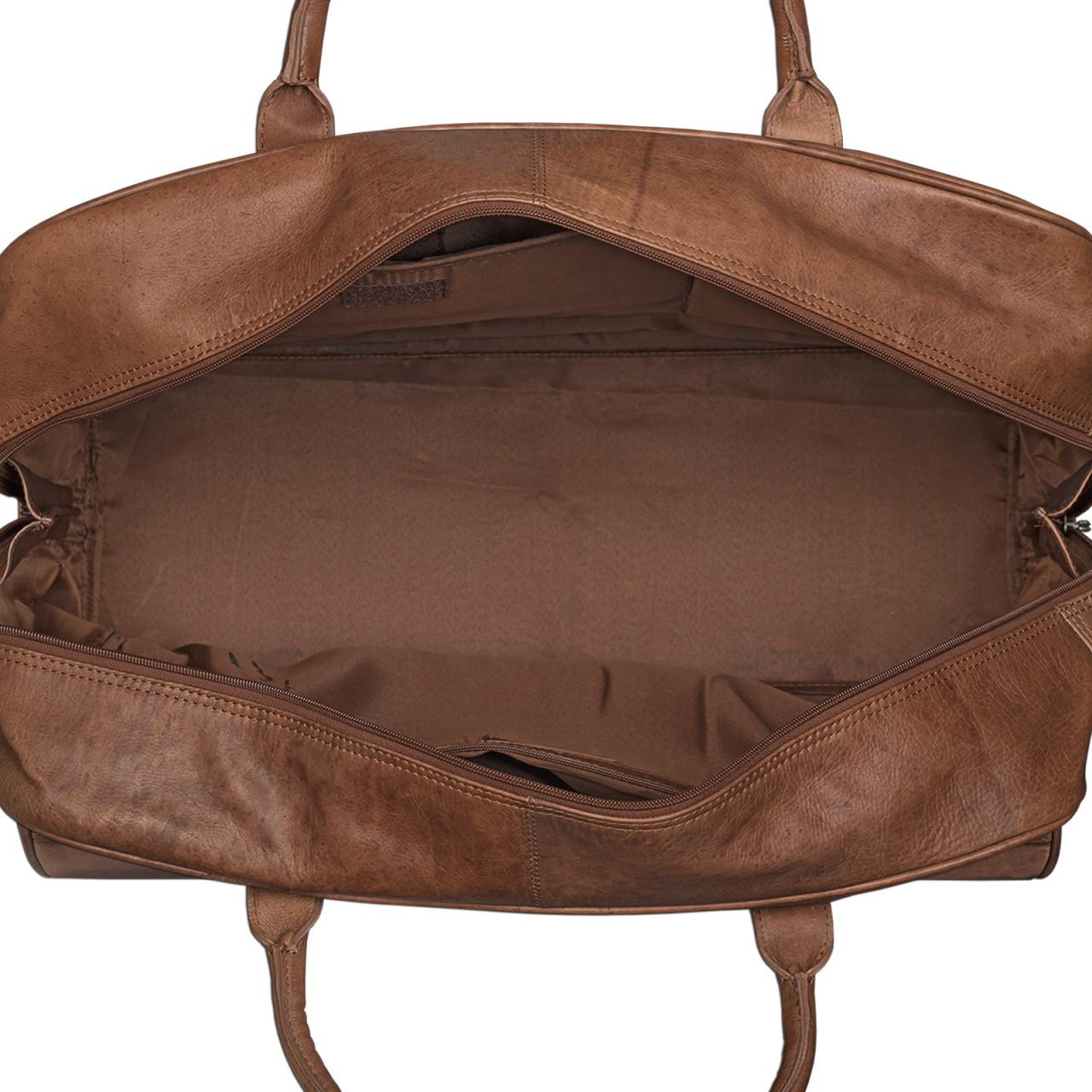 STILORD Reisetasche elegant und groß XXL Weekender Bag Sporttasche Freizeittasche Ledertasche echtes Büffel-Leder cognac braun - Bild 4