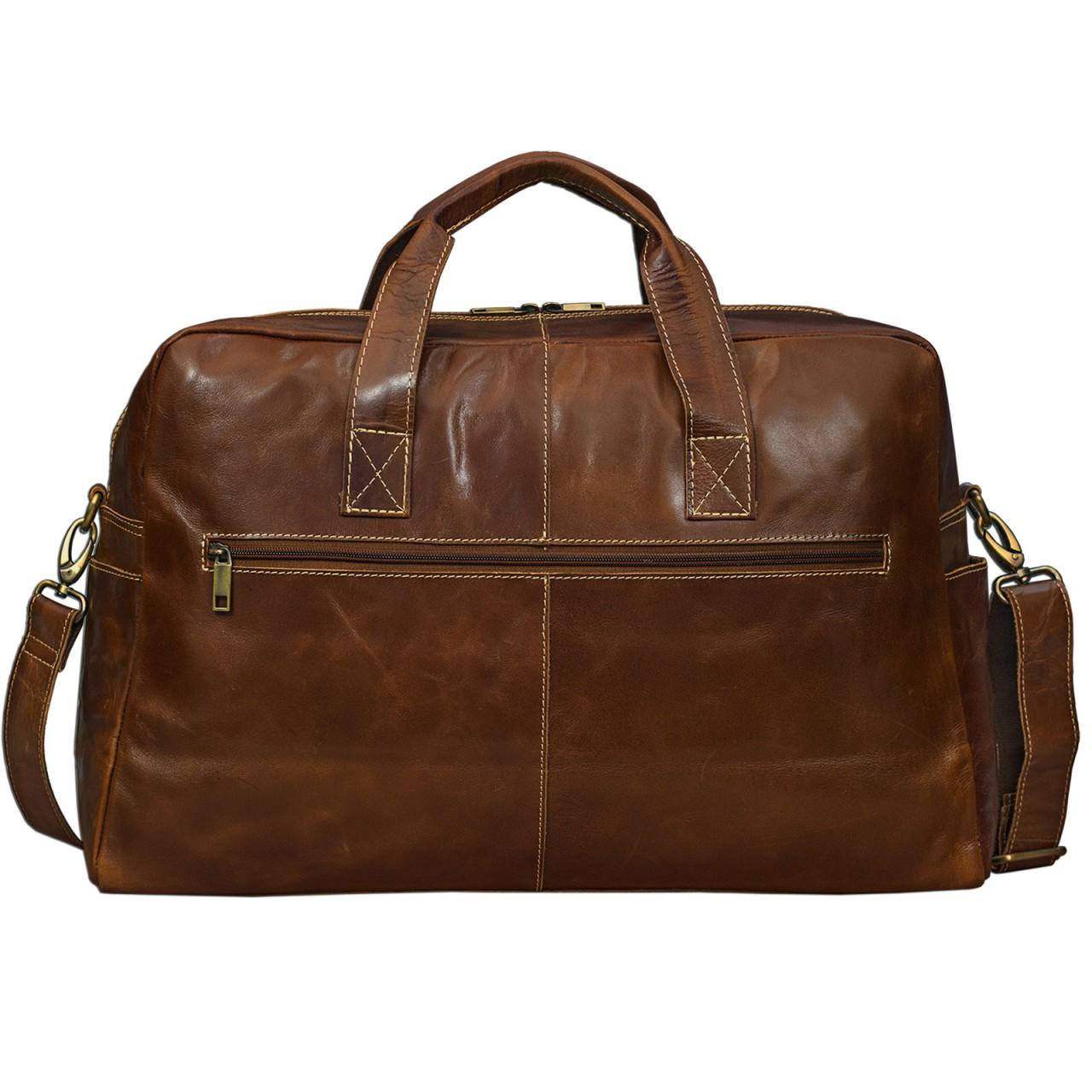 STILORD Vintage Reisetasche Umhängetasche Unisex Weekender für Flugzeug, Handgepäck in Kabinengröße, aus echtem Rinds Leder dunkelbraun - Bild 2