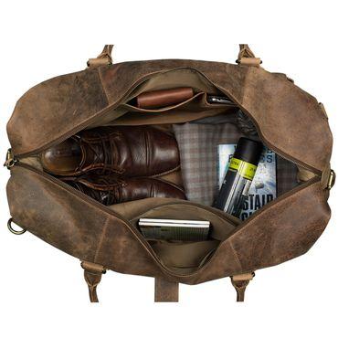 STILORD Vintage Reisetasche groß für Herren Ledertasche Urlaub Retro Sporttasche Weekender Bag aus echtem Leder braun – Bild 6