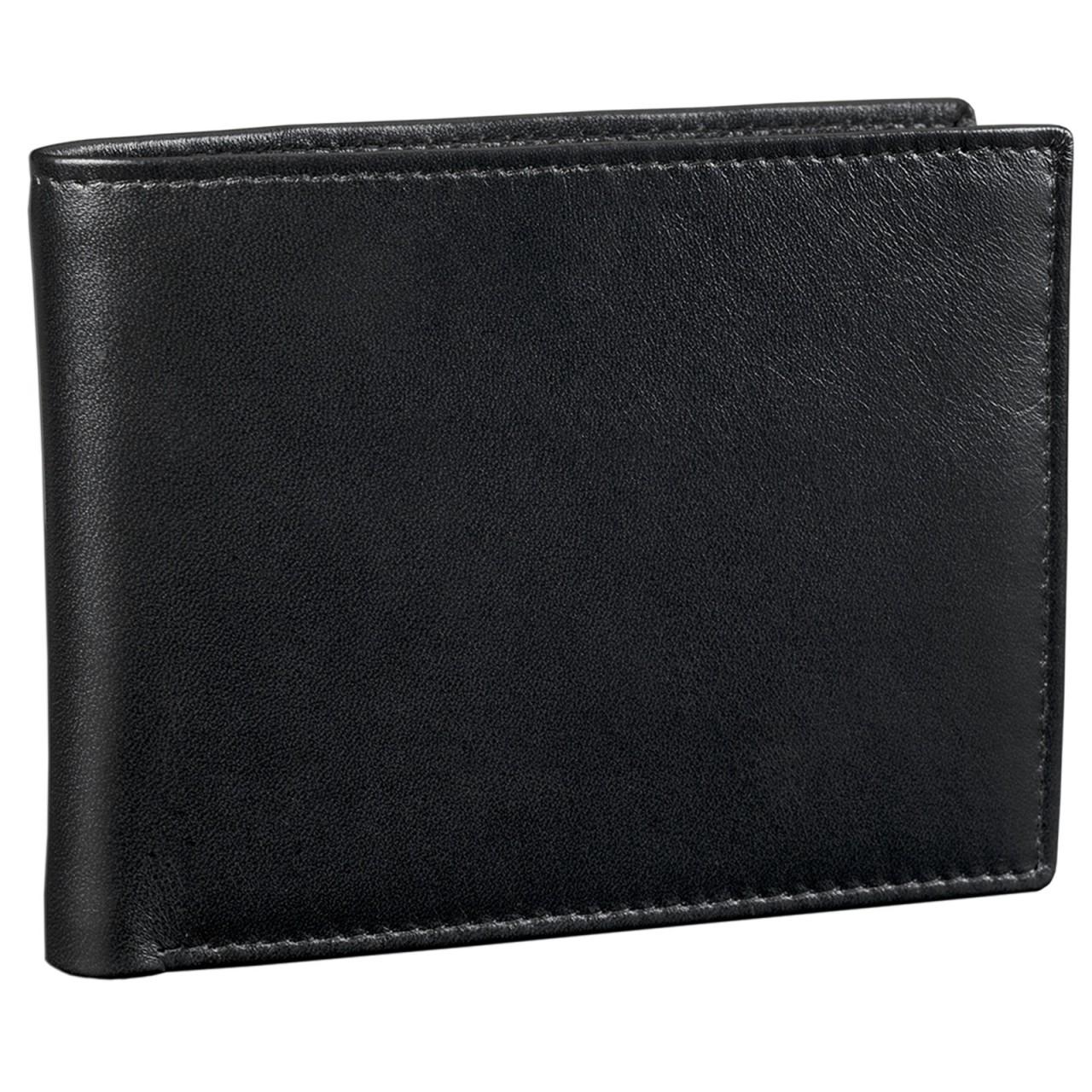STILORD Portemonnaie aus Leder Geldbörse Brieftasche Ledergeldbörse Portmonee Geldbeutel Etui EC-Karten Leder schwarz - Bild 1