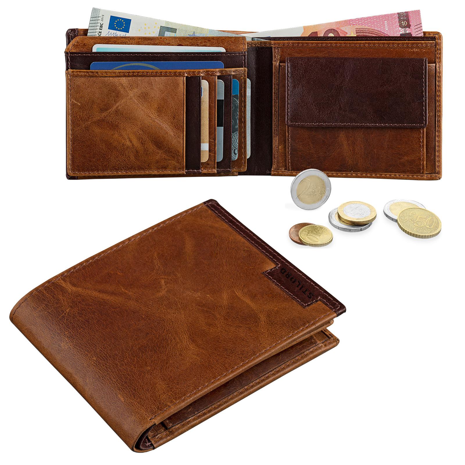 Vintage Herren Portemonnaie Leder braun