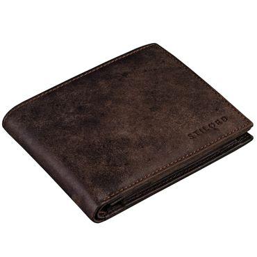 STILORD Vintage Leder Geldbörse mit EC-Karten Schutz Herren Portemonnaie Brieftasche elegant  Retro Rindsleder dunkelbraun – Bild 2