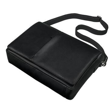 STILORD Ledertasche Umhängetasche Herren Damen Aktentasche Uni Messenger Bag Büro Office 15,6 Zoll Rinds Leder schwarz – Bild 2