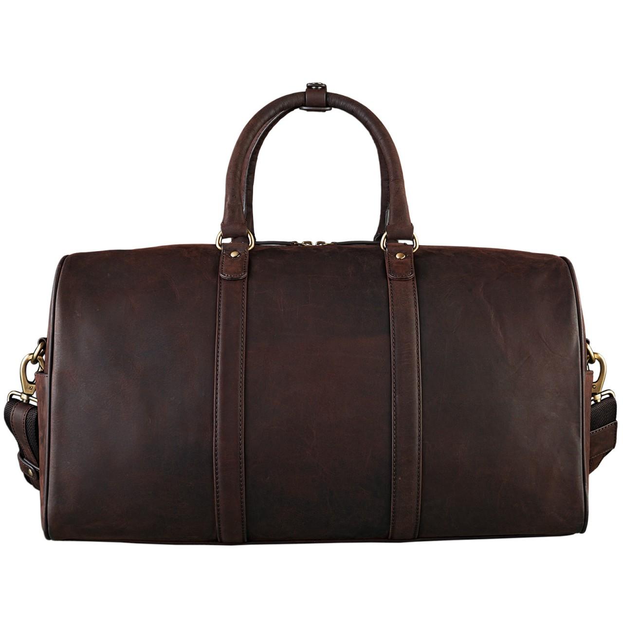 STILORD Elegante Vintage Reisetasche Umhängetasche Weekend Bag Handgepäck in Kabinengröße aus echtem Leder dunkelbraun - Bild 4