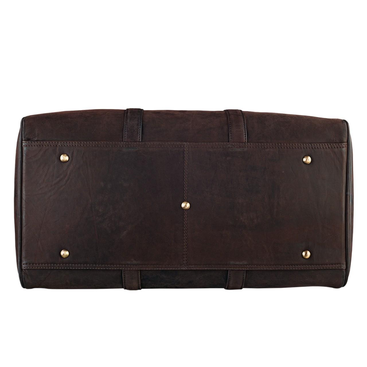 STILORD Elegante Vintage Reisetasche Umhängetasche Weekend Bag Handgepäck in Kabinengröße aus echtem Leder dunkelbraun - Bild 5