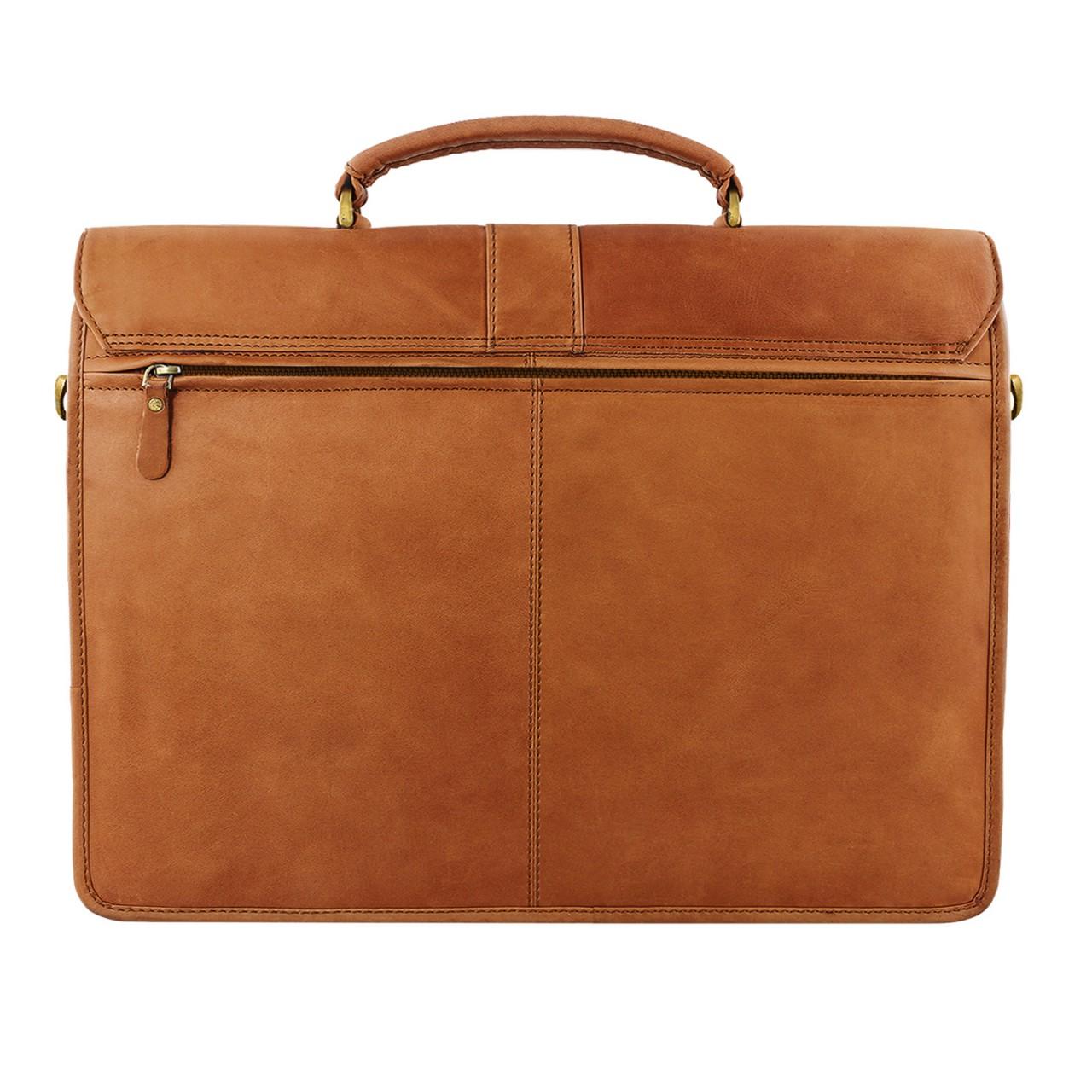 STILORD Vintage Umhängetasche groß Aktentasche Schultertasche 15,6 Zoll Laptoptasche - ideal für Büro Uni Arbeit Leder braun - Bild 3