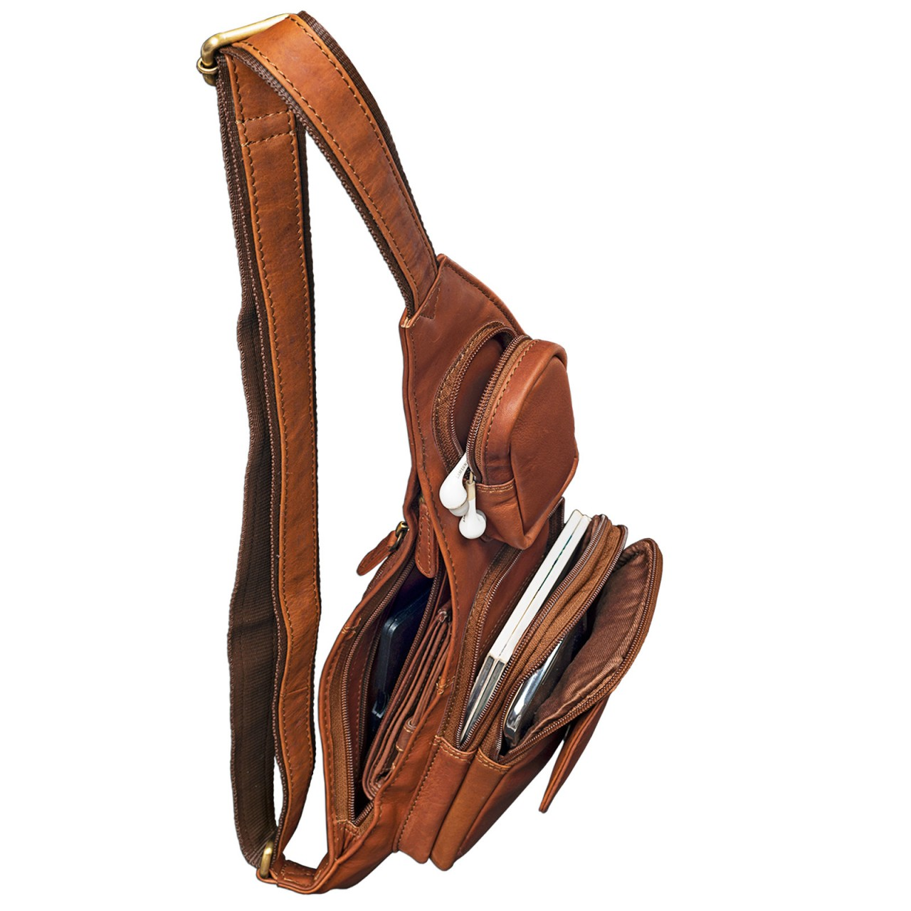 2-in-1 Ledertasche