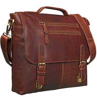 """STILORD """"Louis"""" elegante Businesstasche Damen Herren Umhängetasche Bürotasche Aktentasche 13,3 Zoll Laptoptasche echtes Vintage Leder"""