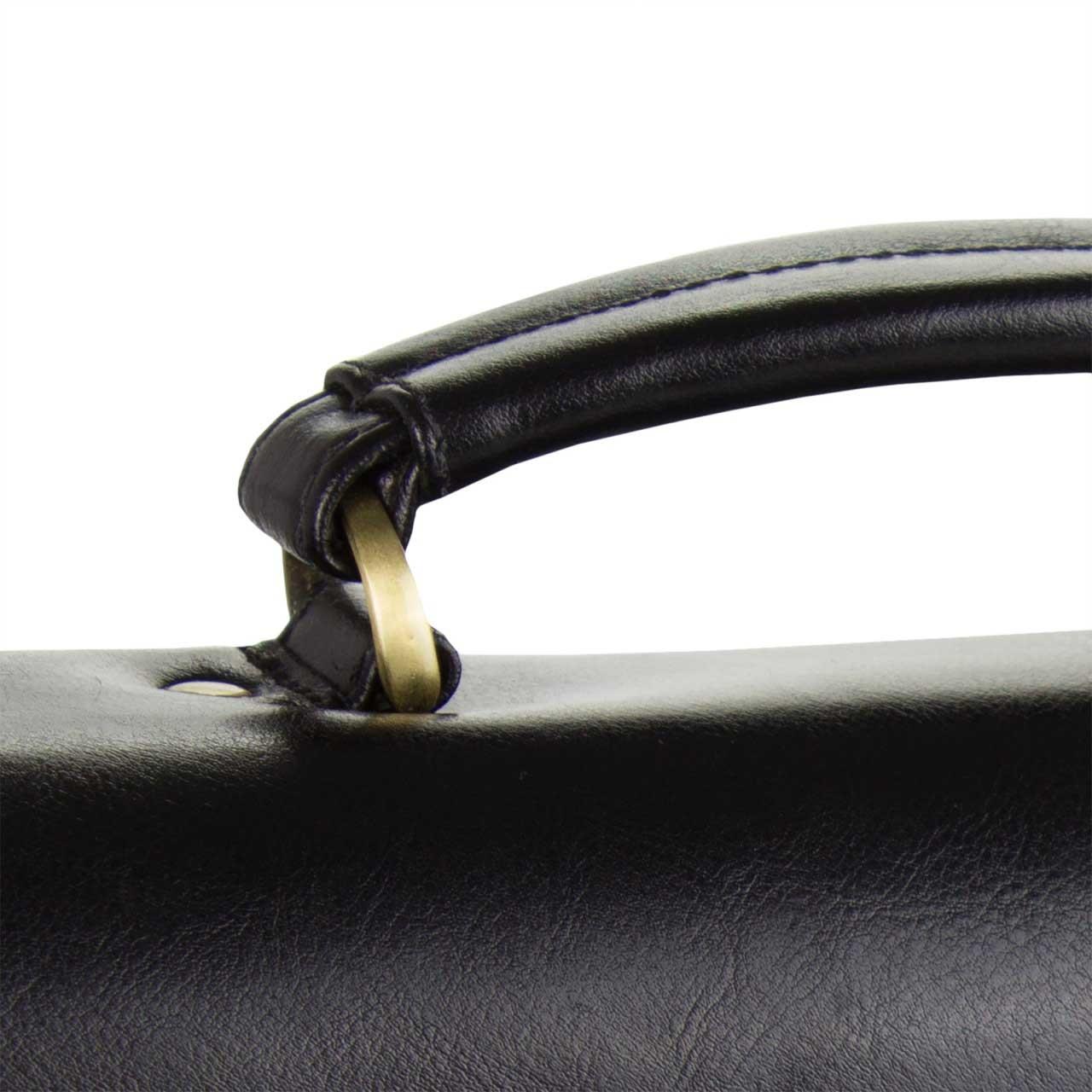 """STILORD """"Philipp"""" Vintage Leder Aktentasche Braun Herren mit 15,6 Zoll Laptopfach Dreifachteilung Dokumententasche Groß Antik Leder - Bild 12"""