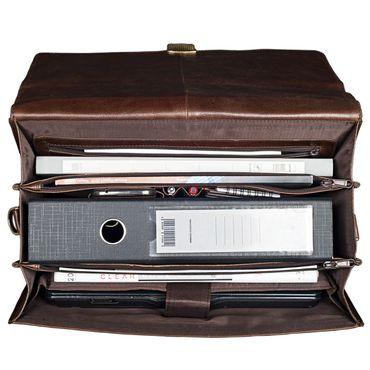 """STILORD """"Philipp"""" Vintage Leder Aktentasche Braun Herren mit 15,6 Zoll Laptopfach Dreifachteilung Dokumententasche Groß Antik Leder – Bild 24"""