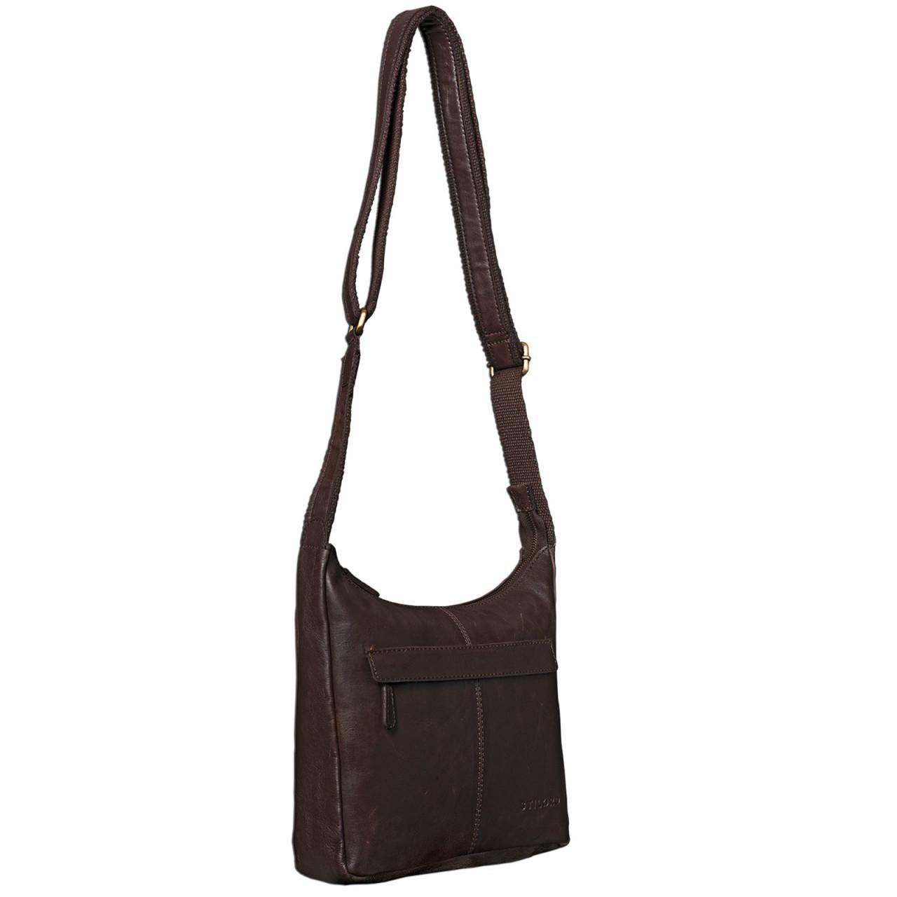STILORD dunkelbraune Vintage Umhängetasche für Damen / Handtasche / Ledertasche aus weichem Büffel Leder braun - Bild 5