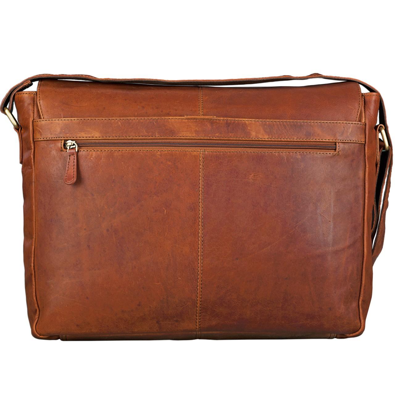 STILORD Umhängetasche Lehrer Damen Herren Schultasche College Uni XL Aktentasche Büro 15,6 Zoll Laptoptasche Vintage Leder cognac braun - Bild 3