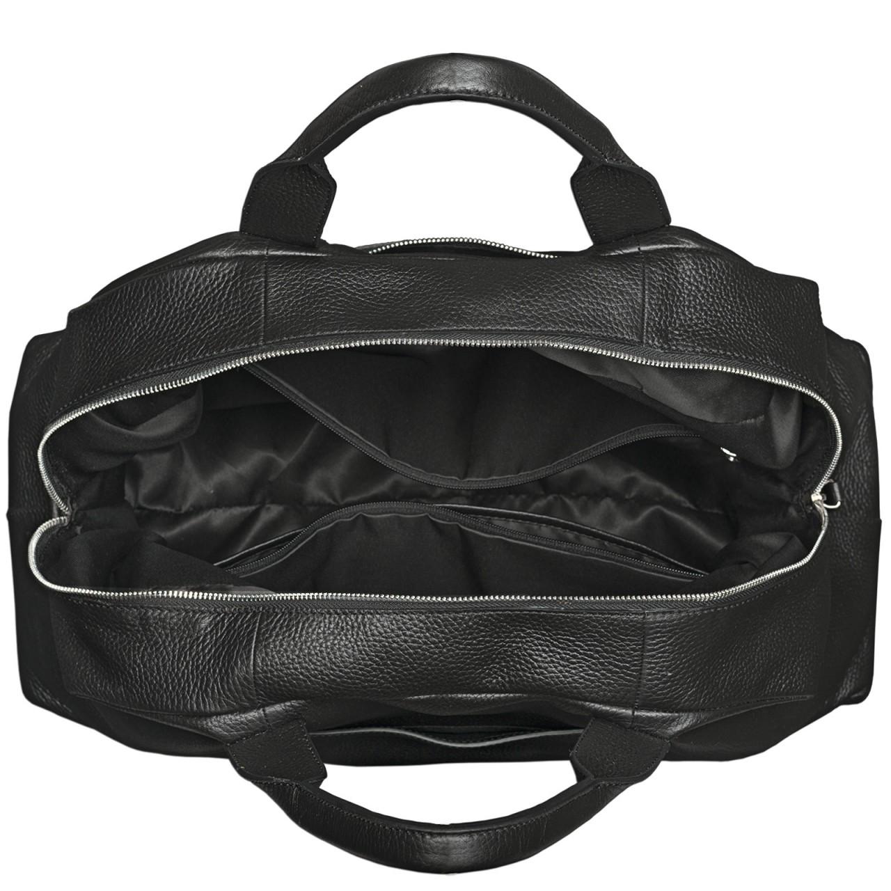 stilord reisetasche leder schwarz elegant gro mit. Black Bedroom Furniture Sets. Home Design Ideas