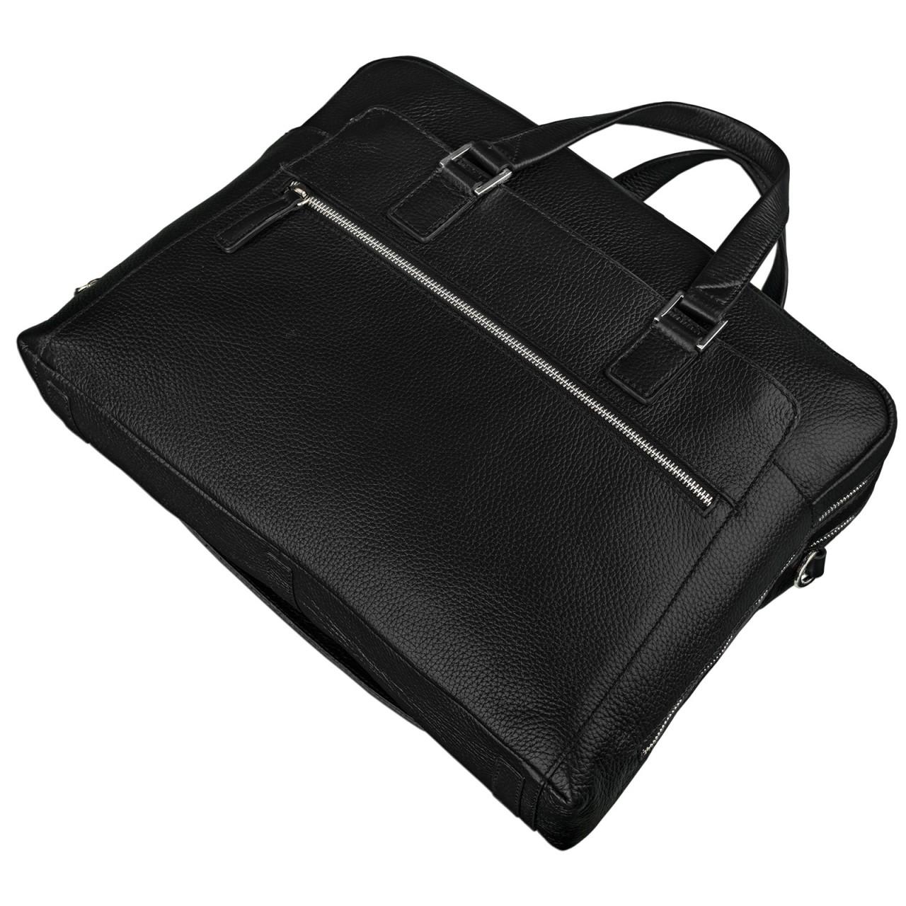 Schwarze Bürotasche Leder