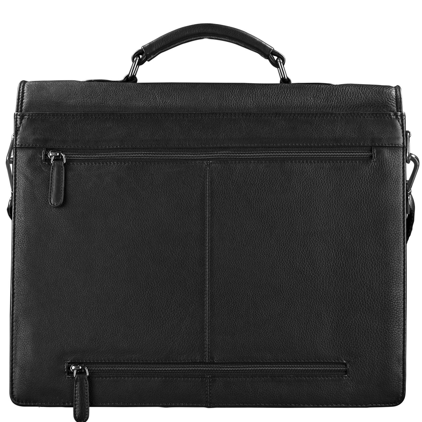 STILORD Aktentasche Leder Schwarz Businesstasche Dokumententasche Bürotasche klassisch elegant aufsteckbar echtes Rindsleder  - Bild 7