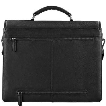 STILORD Aktentasche Leder Schwarz Businesstasche Dokumententasche Bürotasche klassisch elegant aufsteckbar echtes Rindsleder  – Bild 7