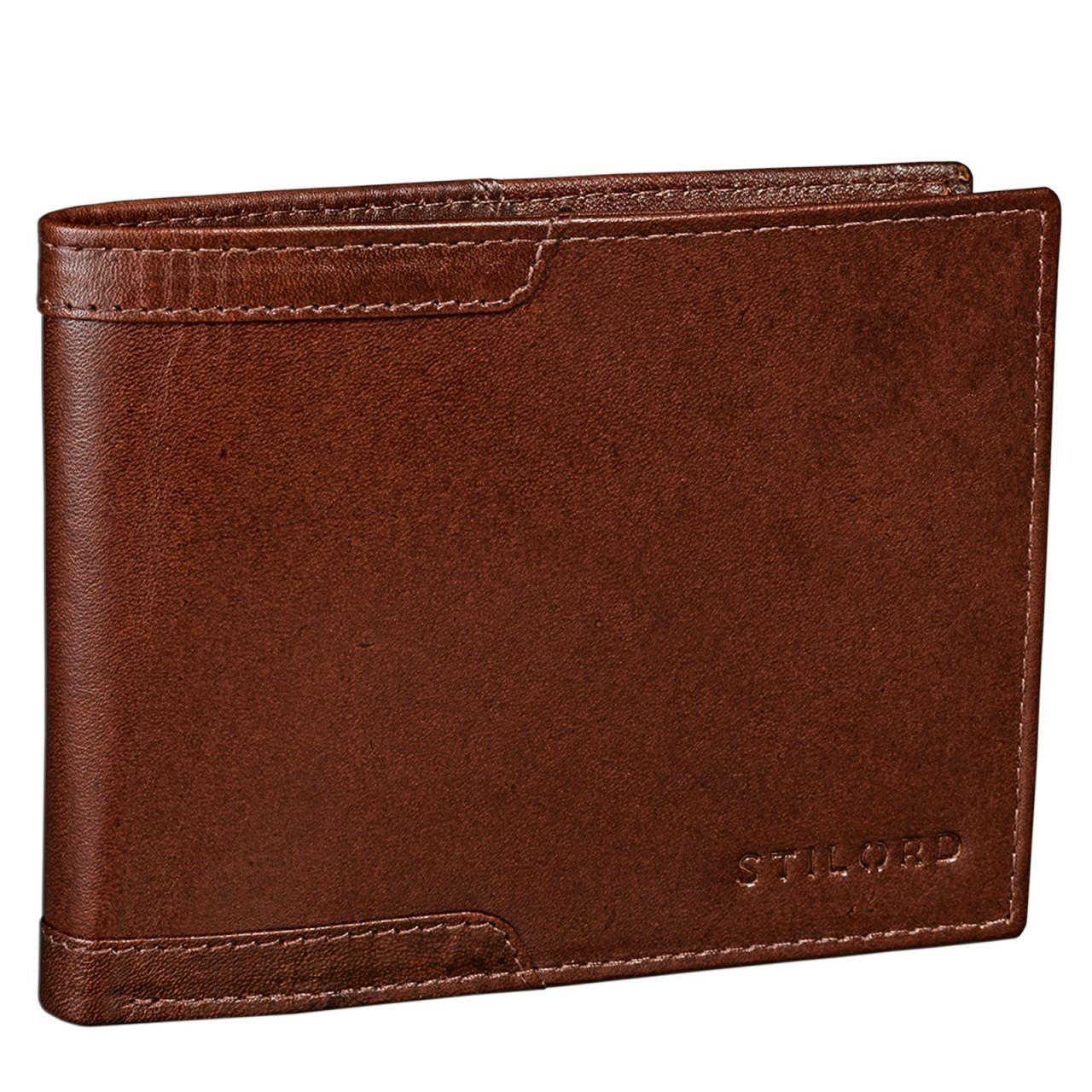 STILORD Vintage Leder Geldbörse für Herren Geldbeutel Portemonnaie EC-Karten Retro Rinds Leder cognac braun - Bild 1