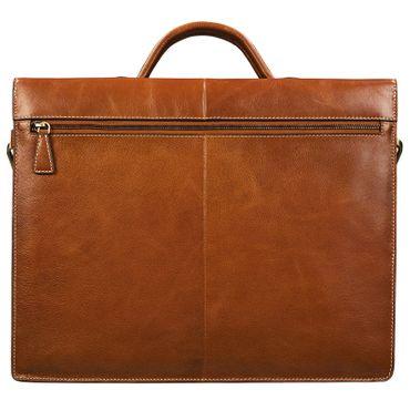 "STILORD ""Lorenz"" Vintage Aktentasche Leder groß Herren Damen Lehrer Business Bürotasche 15,6 Zoll DIN A4 echtes Leder cognac / braun – Bild 5"