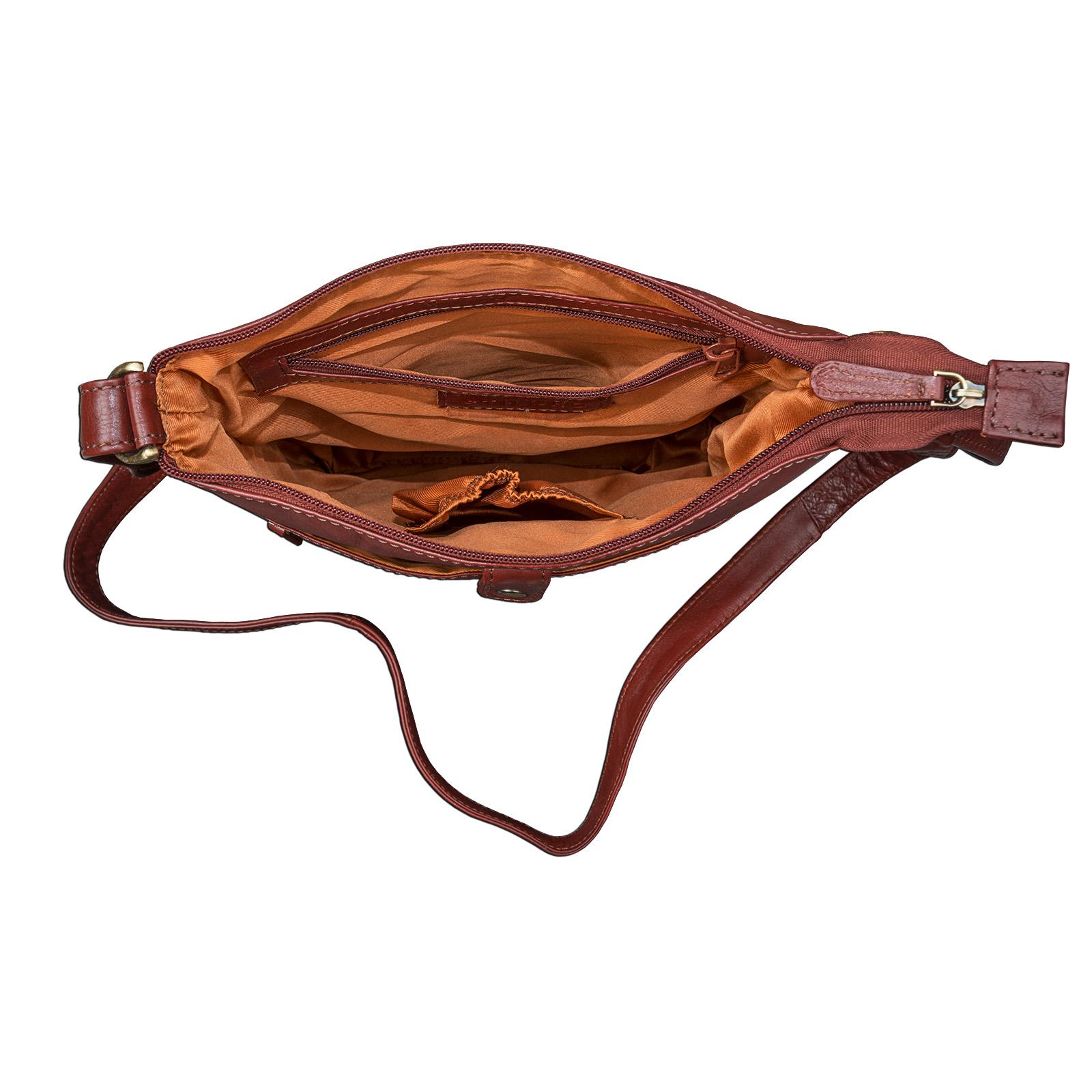 """STILORD """"Lina"""" Elegante Vintage Damen Umhängetasche Schultertasche klein Abendtasche klassische Handtasche 10.1 Zoll Tablettasche echtes Leder - Bild 3"""