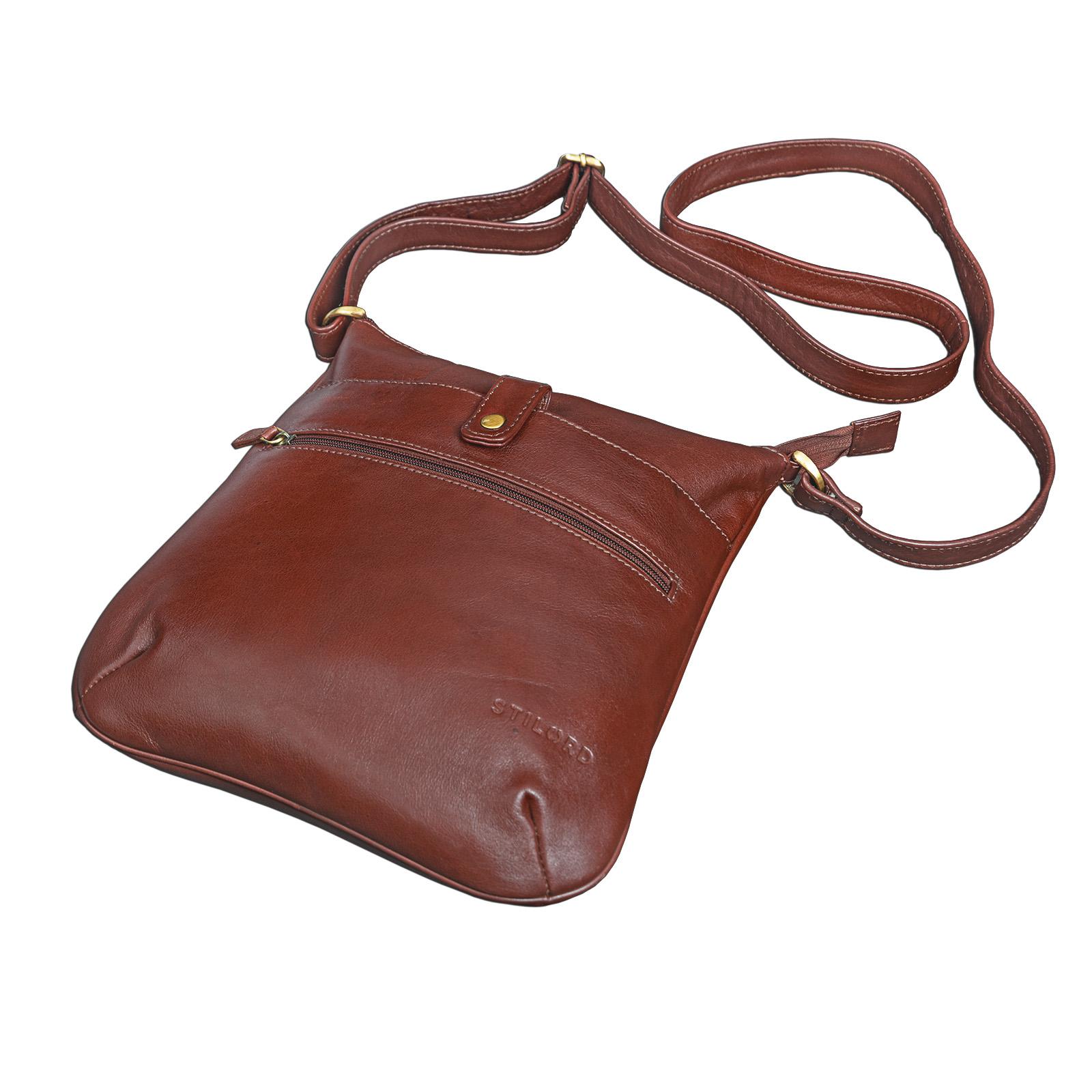 """STILORD """"Lina"""" Elegante Vintage Damen Umhängetasche Schultertasche klein Abendtasche klassische Handtasche 10.1 Zoll Tablettasche echtes Leder - Bild 5"""