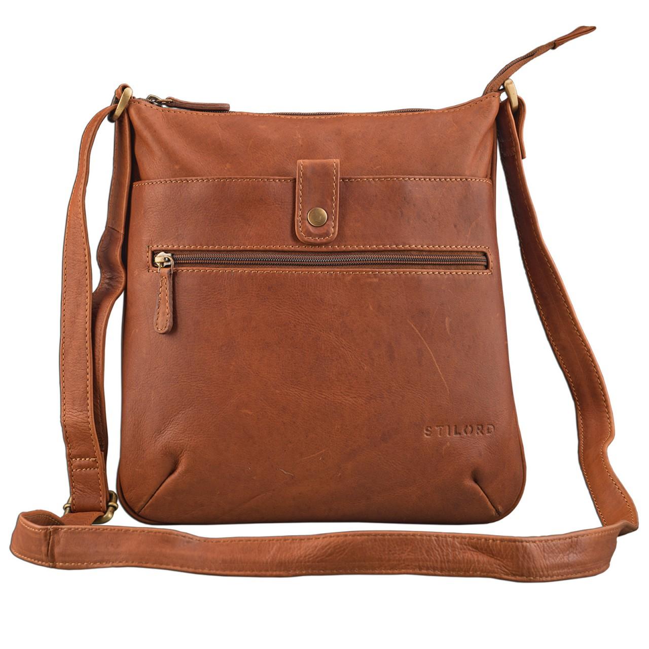 """STILORD """"Lina"""" Elegante Vintage Damen Umhängetasche Schultertasche klein Abendtasche klassische Handtasche 10.1 Zoll Tablettasche echtes Leder - Bild 10"""