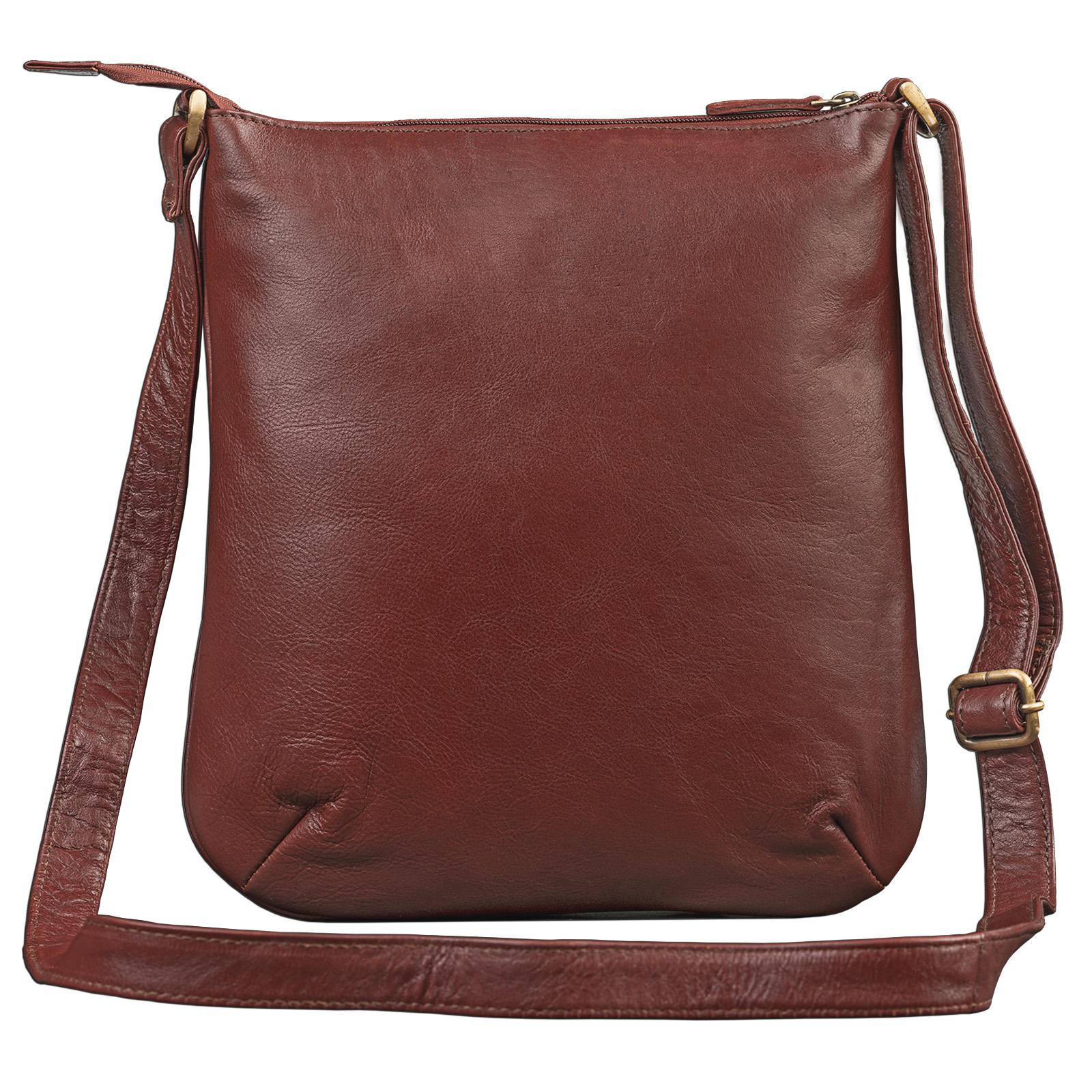 """STILORD """"Lina"""" Elegante Vintage Damen Umhängetasche Schultertasche klein Abendtasche klassische Handtasche 10.1 Zoll Tablettasche echtes Leder - Bild 7"""