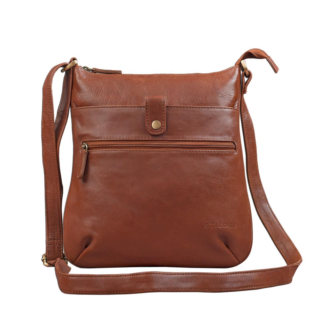 """STILORD """"Lina"""" Elegante Vintage Damen Umhängetasche Schultertasche klein Abendtasche klassische Handtasche 10.1 Zoll Tablettasche echtes Leder - Bild 9"""
