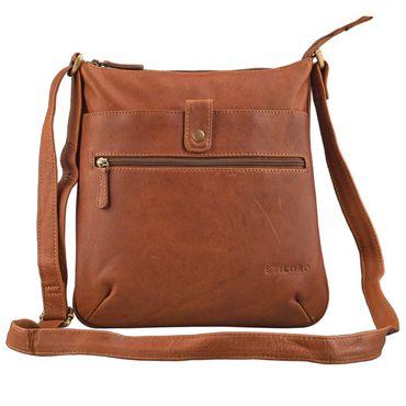 """STILORD """"Lina"""" Elegante Vintage Damen Umhängetasche Schultertasche klein Abendtasche klassische Handtasche 10.1 Zoll Tablettasche echtes Leder – Bild 10"""